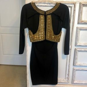 ASOS Dresses - ASOS Black with gold Sequins dress